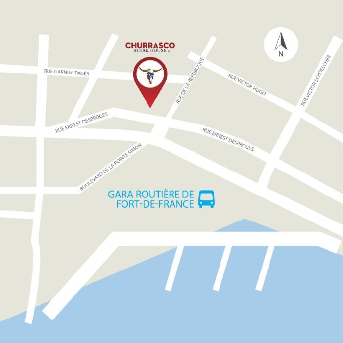 Churrasco Martinique Map - Fort de France-02b